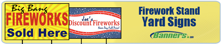 Custom Full Color Yard Signs for Firework Stands from Banners.com